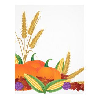 Fall Harvest Illustration Letterhead