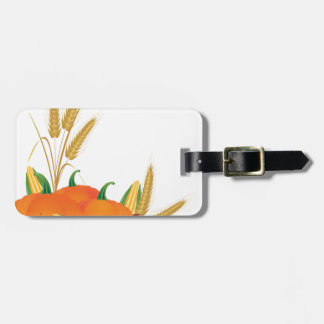 Fall Harvest Illustration Luggage Tag