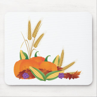Fall Harvest Illustration Mouse Pad