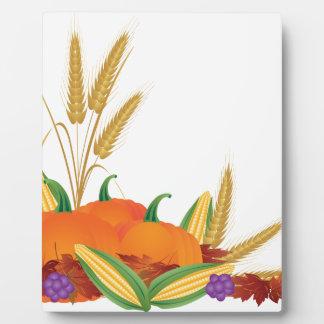 Fall Harvest Illustration Plaque