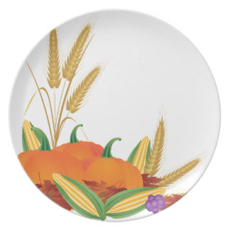 Fall Harvest Illustration Plate