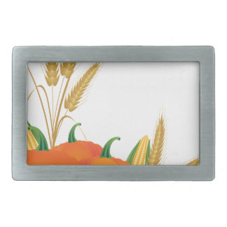 Fall Harvest Illustration Rectangular Belt Buckle