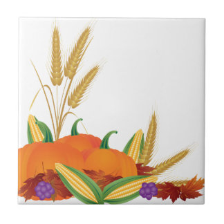 Fall Harvest Illustration Tile