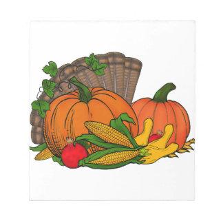 Fall Harvest Notepad