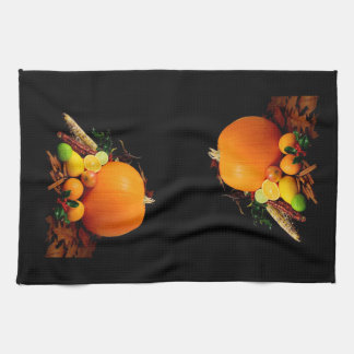 Fall Harvest Pumpkins and Gourds Kitchen Towel