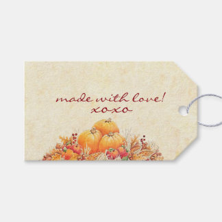 Fall Harvest Pumpkins Pack Of Gift Tags