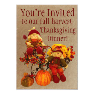 Fall Harvest Thanksgiving Dinner Invitations