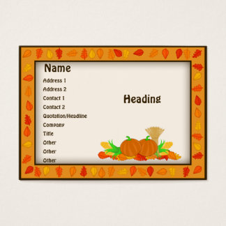 Fall Harvest Theme Business Cards