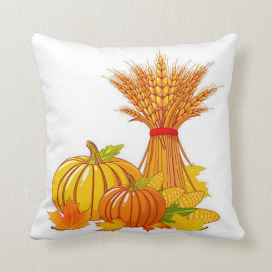 Fall Harvest Throw Pillow/Thanksgiving Throw Pillow