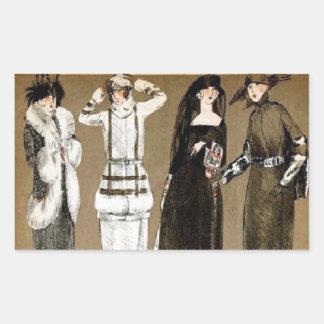 Fall Haute Couture 1920s illustration Sticker