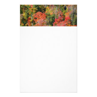 Fall Hillside Bright Autumn Colors Customized Stationery