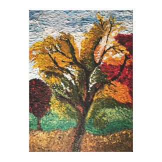 Fall Impressionist Tree Oil Painting Canvas Print