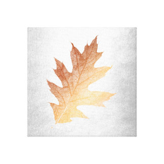 Fall Impressions Cooper Leave Silver Background Canvas Print