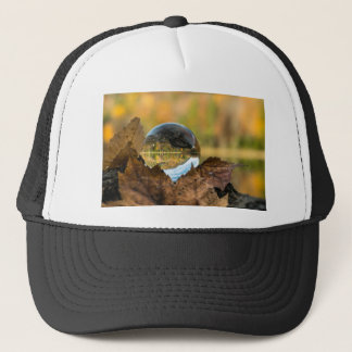 Fall in a ball trucker hat