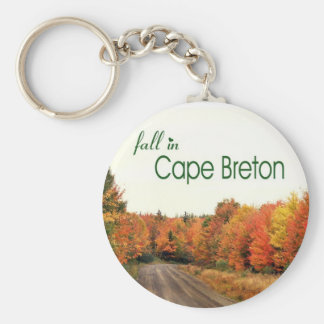 Fall in Cape Breton Basic Round Button Keychain