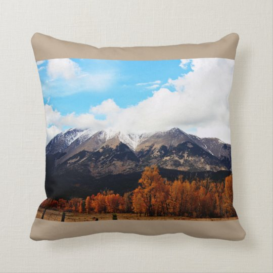 Fall in Colorado Throw Pillow