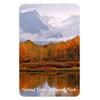 FALL IN GRAND TETON NATIONAL PARK RECTANGULAR PHOTO MAGNET