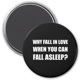 Fall In Love Asleep 3 Inch Round Magnet
