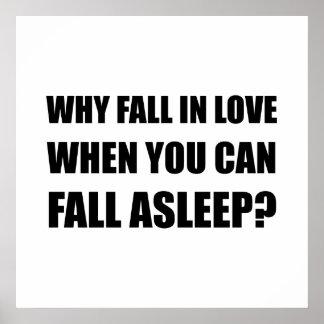 Fall In Love Asleep Poster