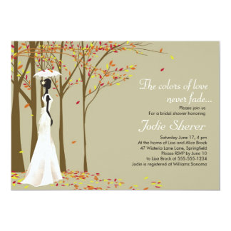 Fall in Love - Autumn Bridal Shower Invitation