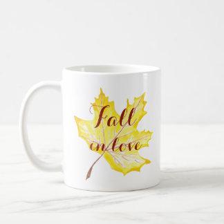 Fall In love Autumn leaf Mug