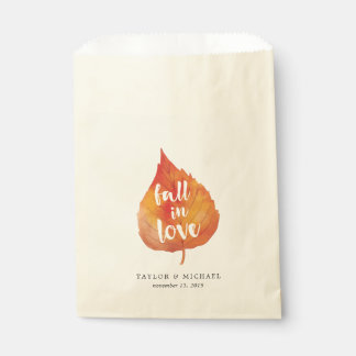 Fall in Love | Autumn Leaves Wedding Favour Bag