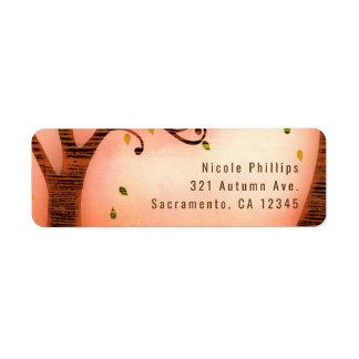 Fall in love Autumn Whimsical Custom Invitation Return Address Label
