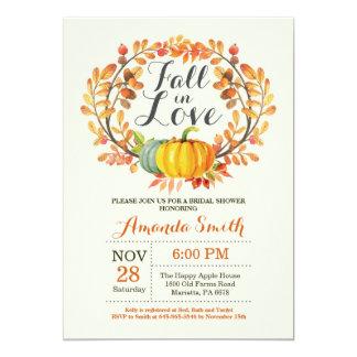 Fall in Love Bridal Shower Invitation Card