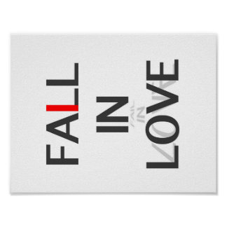 Fall in Love/ Fail in Love Poster