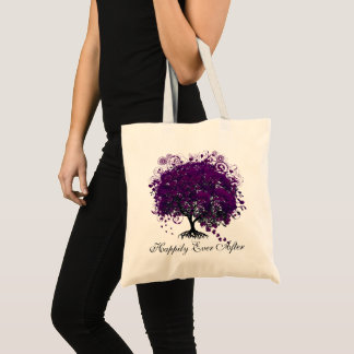 Fall In Love Happily Ever After Tree Red Leaves Tote Bag