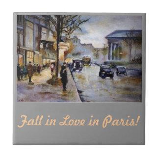 Fall in Love in Paris! Tile