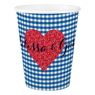 Fall In Love Kitsch Country Wedding Party Cups