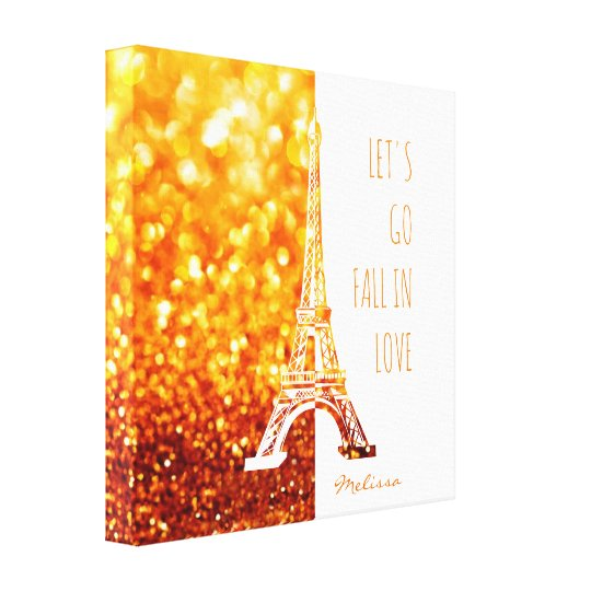 Fall in love Paris | Romantic Eiffel Tower Canvas Print