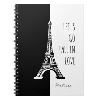Fall in love Paris | Romantic Eiffel Tower Notebooks
