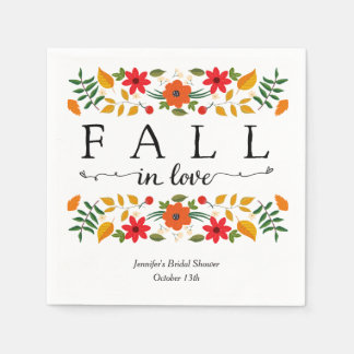 Fall In Love, Personalized Disposable Napkin