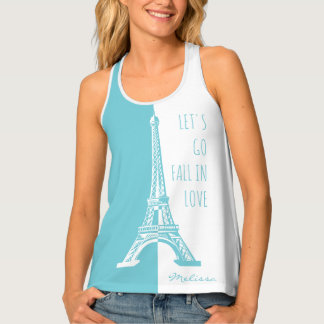 Fall in love | Romantic Paris Tank Top