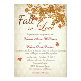 Fall In Love Rustic Wedding Invitation