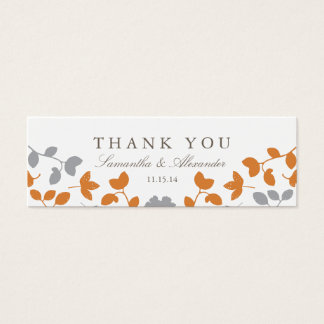 Fall in Love Wedding Favor Tags Mini Business Card