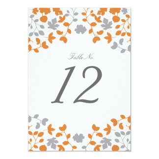 Fall in Love Wedding Table Number Card