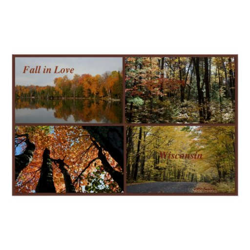 Fall In Love Wisconsin Posters