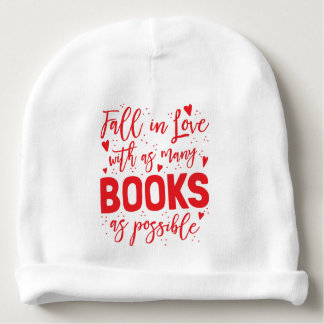 fall in love with books as possible baby beanie