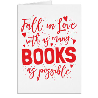 fall in love with books as possible card