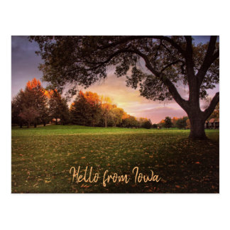 Fall in Love with Iowa Post Card