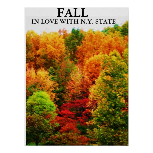 FALL, IN LOVE WITH N.Y. STATE print