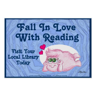 Fall In Love With Reading Poster