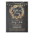 Fall in Love Wreath Fall Engagement Floral Invite