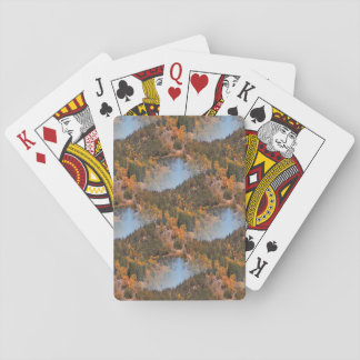 Fall in the mountains... playing cards