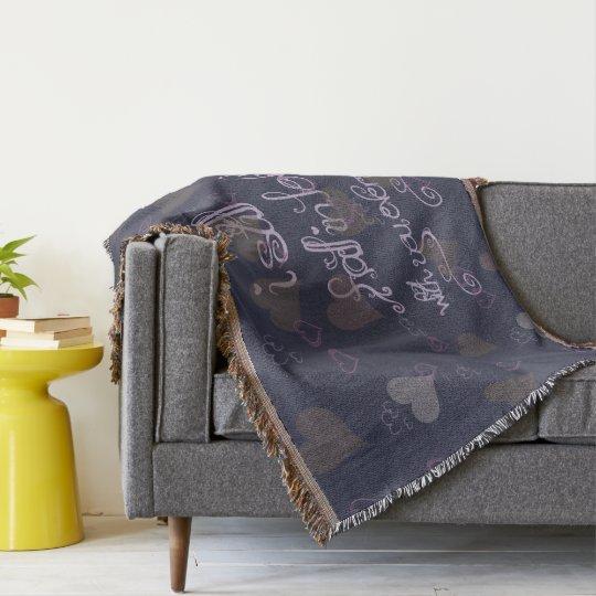 Fall Inn love Throw Blanket