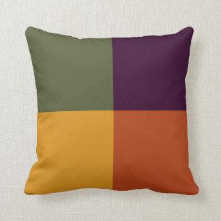 Fall Into Squares Decorative Throw Pillow