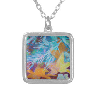 Fall Into Winter Silver Plated Necklace